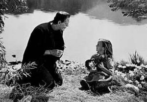 La niña y Frankenstein