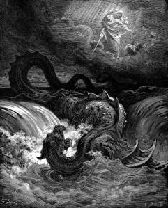 La destrucción de Leviatán - Gustave Doré (1865)
