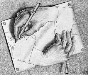 Manos dibujando - Escher (1948)