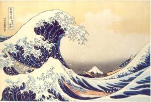 La ola (Hokusai)
