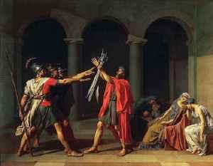 El juramento de los Horacios (Jacques-Louis David, 1784)