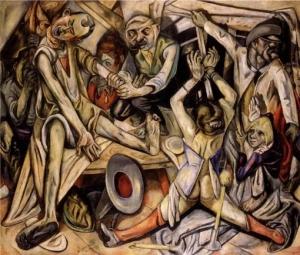 Max Beckmann (La nuit; 1918-1919)